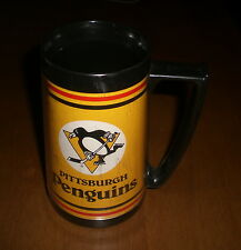 PITTSBURGH PENGUINS STROH'S BEER GOLD INSULATED MUG