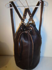 ORIGINAL RUGBY BUCKET BAG  BACKPACK CHESTNUT BROWN  $475 RETAIL