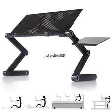 360°foldable laptop Notebook Desk Table Stand Portable Tray W/mouse pad black