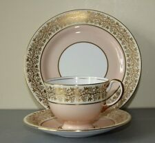 Aynsley Bone China Trio  Cup, Saucer and Plate. Pink and Gold, pattern 14860