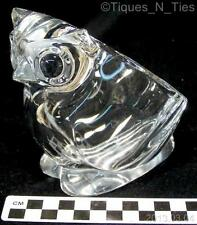 Owl Open Back Glass Figurine Candy Dish Vannes Le Chantel France Crystal (FF)