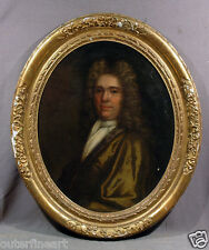 Oval 18th Century Portrait of English Gentleman Oil Painting