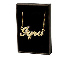 """Name Necklace """"IQRA"""" - 18ct Gold Plated - Swarovski Elements - Custom Made Gifts"""