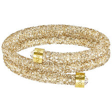 Swarovski 5255907 Crystaldust Gold Double Bangle Size S RRP$129