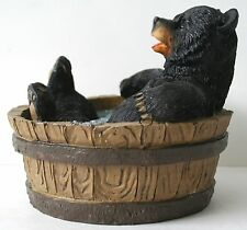 Bathtub Bear Figrurine - Black Bear, Comic, Wildlife, Home decor, NEW !