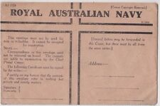 Royal Australian Navy WW2 honour envelope AS 1324 St 3856 unused, popular