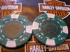 Green & White Poker Chip from Cycle City Harley Davidson Honolulu, Hawaii