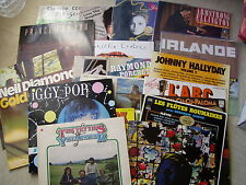GROS LOT  16 DISQUES albums 33 T TOURS LP ROCK POP FOLK VARIETES IRLANDE ...