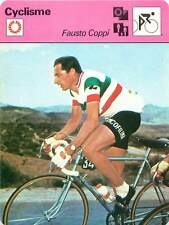 FICHE CARD: Fausto Coppi Italy Road and track Rider Cycling CYCLISME 1970s