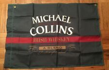 "NEW Michael Collins Irish Whiskey Green Nylon 29""x41"" Flag"