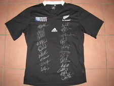 2011  New Zealand Allblacks World Cup Jersey Hand Signed x Team & Coach