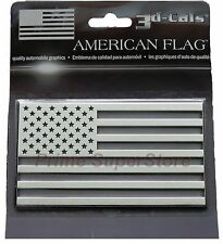 3D Chrome USA American Flag Self Adhesive Emblem Decal Car Truck Motorcycle RV