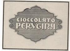 Pubblicità epoca 1923 PERUGINA CIOCCOLATO ITALY advert werbung publicitè reklame