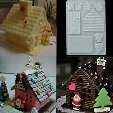 DIY 3D Christmas House Fondant Chocolate Mould Xmas Cake Cutter Mold Decor