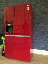 LG GSL545WBYV Cranberry RED American fridge Freezer-Non-plumbed Water & Ice disp