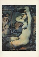 "1961 Vintage ROUAULT ""PROSTITUTE AT HER MIRROR"" WOW! COLOR Art Print Lithograph"