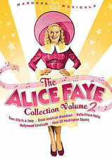 ALICE FAYE COLLECTION VOL 2 HOLLYWOOD CAVALCADE FOUR JILLS IN A JEEP NEW DVD