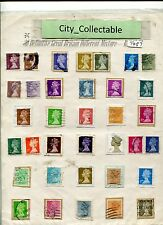 T487 # BULK 35 PCS QEEN ELIZABETH II UK GB ENGLAND USED STAMPS