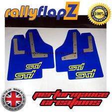 rallyflapZ SUBARU IMPREZA Sedan (10-14) Mud Flaps Blue STi Yellow 3mm PVC