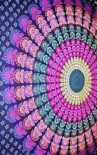 PSYCHEDELIC Indian Wall Hanging Hippie Mandala Tapestry Cotton Bedding Bedspread