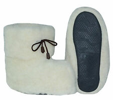 New Natural Sheep Wool Slippers Home Bootie Shoes   US SELLER Size 9.5-10 Ivory