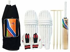 Power Max Cricket Set - Size 6 Kashmir Willow Bat, Pads, Gloves & Bag For Kids