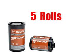 5 Rolls Foma Fomapan Retropan 320 ISO320  35mm 135-36  B&W  Film Dated 10/2018