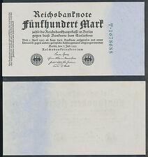 500 Mark  Reichsbanknote  7. Juli 1922 Ro. 71 b / Pick 74 Serie T  Erhaltung 99%
