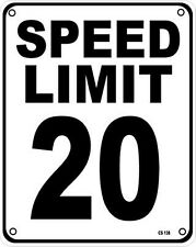Speed Limit 20 aluminium wall sign  (ss)