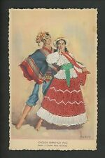 Embroidered clothing postcard Artist Tuser, Peru, Dancers Fernandez Serranos
