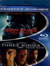 NEW BLU-RAY DOUBLE FEATURE // BODY OF LIES + THREE KINGS // GEORGE CLOONEY,