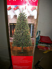 6' Foot Douglas Fir Prelit Multi-Color Lights Artificial Christmas Tree w/ Stand