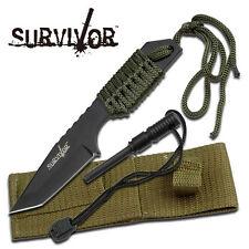 KNIFE COLTELLO DA CACCIA SURVIVOR 320 CON ACCIARINO FUOCO SURVIVAL SOPRAVVIVENZA