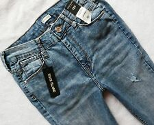River Island jeans LANA super skinny high rise waisted ripped rips 32/28 12 S