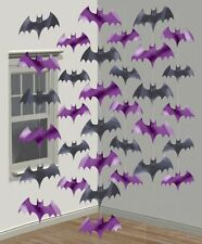 Halloween Decorations Vampire Bats Batman Foil String Hanging Kids Room Party UK