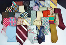 Neck Ties Quilting Craft Supplies Fabric Salvage Remnant Silk Polyester Wool