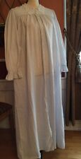 Eileen west nightgown Gorgeous 100% Cotton Long Sleeves Medium Made In Usa VTG