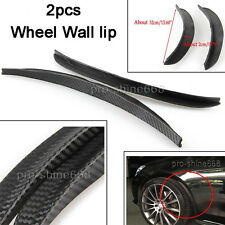 "2x 13"" Carbon Wrap Wide Body Fender Flares Lip For Mazda Subaru Wheel Wall Auto"