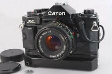 Excellent+++++ CANON A-1 35mm Camera FD 50mm F2 Lens Power Winder A2 Data Back