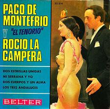 EP PACO DE MONTEFRIO y ROCIO LA CAMPERA dos estrellas unidas SPAIN 1968