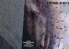Coupure de presse Clipping 2001 New York 11 septembre 1 mois deja (6 pages)