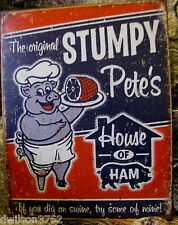 Stumpy Pig Hog Kitchen Food Diner Restaurant Picture Poster Tin Ad Sign Gift New