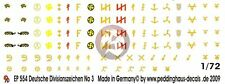 Peddinghaus 1/72 German Wehrmacht & Waffen-SS Division Markings WWII No.3 EP554