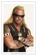 DUANE LEE CHAPMAN AUTOGRAPH SIGNED PHOTO PRINT DOG THE BOUNTY HUNTER