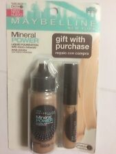 Maybelline Mineral PowerFoundation PURE BEIGE WITH MINERAL CONCEALER BEIGE.