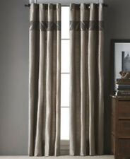 Bryan Keith Cape Town 40 x 84 Chocolate Pair Grommet Window Panel Curtains