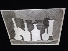 "Giorgio Morandi ""Still Life Vases -Etching"" Italian Realism Art 35mm Glass Slide"