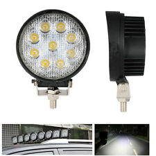 27w 12/24V FLOOD lamp Work bulb led tractor Motorcycle Driving Fog Lights round