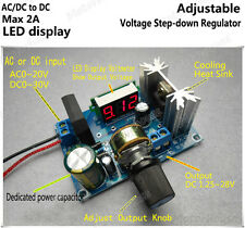 AC/DC to DC Adjustable Voltage Step-Down Buck Converter Voltmeter Buck Module