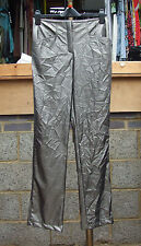 Joseph Ribkoff BNWT UK 10 Fabulous Grey Crinkle Effect Narrow Leg Trousers